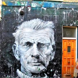 Samuel Beckett – Streetart - 1