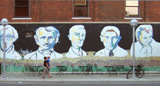 Streetart5 – Woody Allen, Edgar Allan Poe, Hermann Hesse, Franz Kafka, Anais Nin